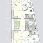 Verkaufspläne: Neubau einer Doppelhaushälfte mit unterirdischen 3 PKW-Stellplätzen, Düsseldorf-Ludenberg