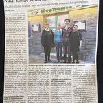 """Ein Artikel aus der WZ-Düsseldorf zum """"Literarischen Krokodil"""", April 2018 – vielen  Dank an Julian Krebs."""