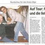 Ein Artikel aus der WP/WR für den Kreis Olpe, März 2011 – vielen Dank an Herbert Kranz.