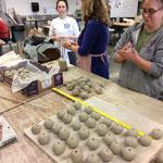 CPCC Ceramic dept students
