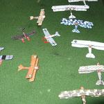 Alcuni degli aerei della collezione di Piero.