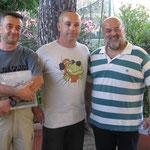 I tre vincitori: Palandri, Massa, Tucci.