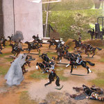 Diorama della battaglia di Balaklava (Guerra di Crimea 25.10.1854)