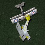 Il Pfalz di Roberto ed il Nieuport di Paolo si abbattono a vicenda...
