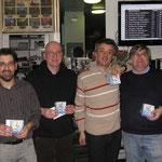 I vincitori (da sn a dx): Maurizio (1°), Paolo (2°), Stefano (4°), Giorgio (3°)