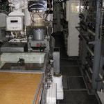 parte poppiera della camera di manovra con tavolo tattico e girobussola
