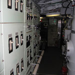 I quadri elettrici verso la camera di manovra.