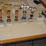 I premi per il torneo.