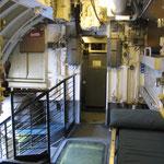 Vista della camera di lancio verso poppa