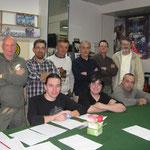 I partecipanti al torneo (da Sn a Ds):Paolo, Maurizio, Maicol, Stefano, Nicola, Nutella Roberto, Sergio, Roberto.