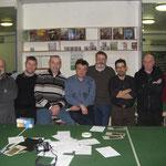 I partecipanti al torneo. Da Sn a Dx: Piero, Alessio, Sergio, Stefano, Roberto, Maurizio, Paolo, Andrea.