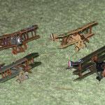 I quattro aerei costituenti i premi ad estrazione.
