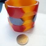 SOLD USA 60er Jahre, Lucite Armreife, 3 Stück zusammen €140