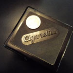 Black bakelite Cigarette box