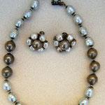 MIRIAM HASKELL, Perlenkette & Clips