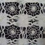 Beautiful linen cloth, monogrammed 1902. A real antiquity. All hand stitched. Look at the fabulous spider web filet work. 64x66cm €120