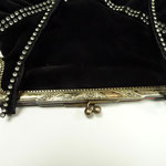 Vintage silver-plated frame with professionally renewed fabric. Black velvet with rhinestone application. 24cm x 29 cm Price: €220