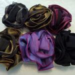 Hightechfaser, sehr schimmernd, pink/magenta, grüntöne, grautöne, schwarz,gold/braun, €20