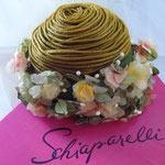 "Silk flowers and straw ""spaghetti"""
