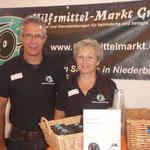 Hilfsmittelmarkt Niederbipp mit Doris Studer und Harry Flück