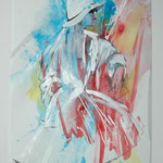 """""""Remembering Chanel"""", 30 x 40 cm, mixed technique on paper, 2012 (sold, in the collection of BADK, Cologne, Germany)"""