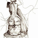 """Mutual Mending"", 20 x 30 cm, ink pen on paper, 2014"