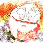 Je suis, colored pencil on paper, 24 x 32 cm, 2021