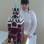 """КР-004 Торт """"Кремль"""" (Спасская башня) 20 кг, высота 75 см."""
