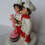 СВ-021 Фигурки кондитер и повара для свадебного торта.