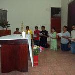 MOMENTOS DE ORACION CON JESUS SACRAMENTADO-VISITA EQUIPO DIOCESANO