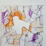 z.t. 2015 50 x 50 cm tekening met acryl inkt, ecoline en stift