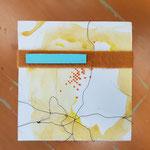 Ardal 61.7 - 2018 - 35x55x8 cm papier, mdf, vilt en draad - privé collectie