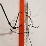 Saga 33.130 - 2018 - 40x27x6 cm tekening op papier, mfd, draad en kralen