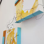 Ardal 61.7 - 2018 - 35x55x8 cm tekening op papier, mdf, vilt en draad - privé collectie