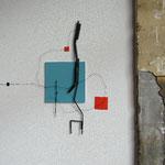 z.t. 2016 50 x 50 x 6 cm alu-draad, kunststof en papier