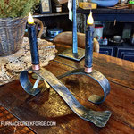 Fish-tailed Candleholders with hammer texture