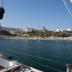 Sines: Ankern im Hafen