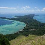 View from Mount Makoto on Mangareva Island