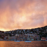 Evening atmosphere in Villefranche bay