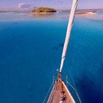 Kon-tiki motu viewed from my mast
