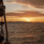 First sunrise at sea...