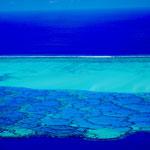 Maupiti lagoon with corals