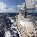 Fast downwind sail from Tahanea to Fakarava