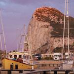 The Rock: Gibraltar von Spanien aus gesehen