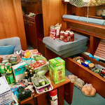 ...finding a place for everything below deck