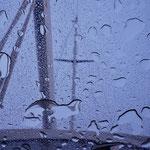 Regenwetter in Vigo, der erste Regen in mehr als zwei Monaten