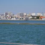 Faro vom Ankerplatz aus