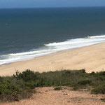 Der Strand mit bis zu 20m Wellen!