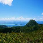 Hiking to the top of Raiatea...