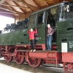 Lokomotive beim Oberpfälzer Handwerksmuseum in Hillstett - www.roetz.de/handwerksmusuem